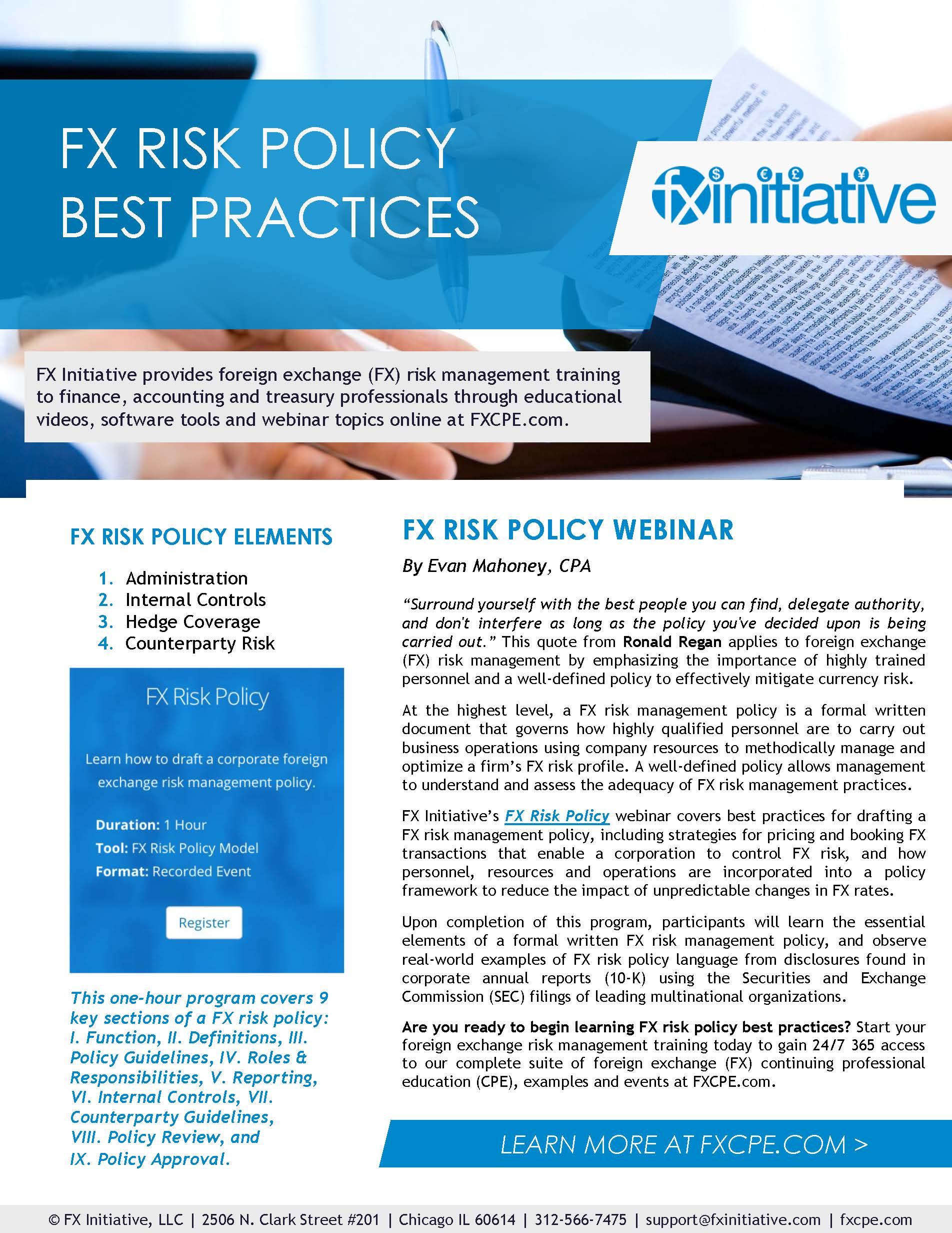 FX Initiative Blog | FX Risk Policy Best Practices